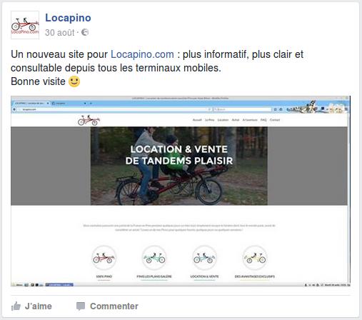 Un nouveau site pour Locapino.com : plus informatif, plus clair et consultable depuis tous les terminaux mobiles. Bonne visite.