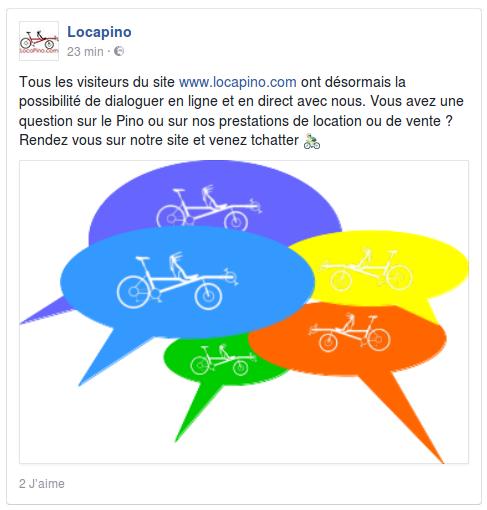 Tous les visiteurs du site www.locapino.com ont désormais la possibilité de dialoguer en ligne et en direct avec nous. Vous avez une question sur le Pino ou sur nos prestations de location ou de vente ? Rendez vous sur notre site et venez tchatter