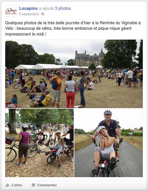 Quelques photos de la très belle journée d'hier à la Rentrée du Vignoble à Vélo : beaucoup de vélos, très bonne ambiance et pique-nique géant impressionant le midi !