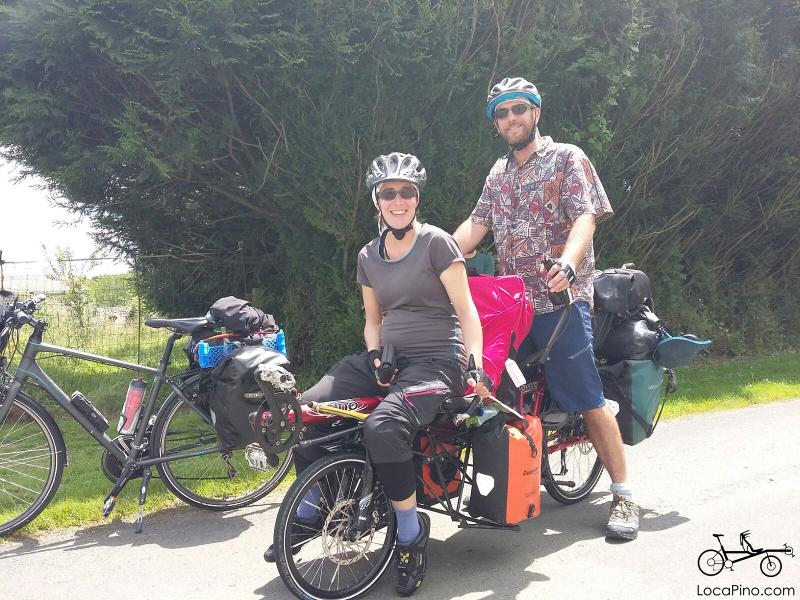 Le tandem Pino sur le parcours de la Vélo Francette à La Rochelle (de La Rochelle à Ouistreham)