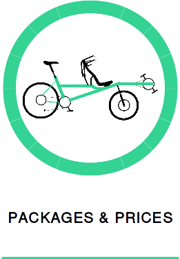 Prices to rent a Pino tandem bike in France and example holiday packages