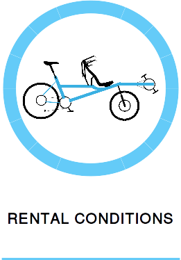 Conditions for renting a Hase Bikes Pino tandem in France during your holiday