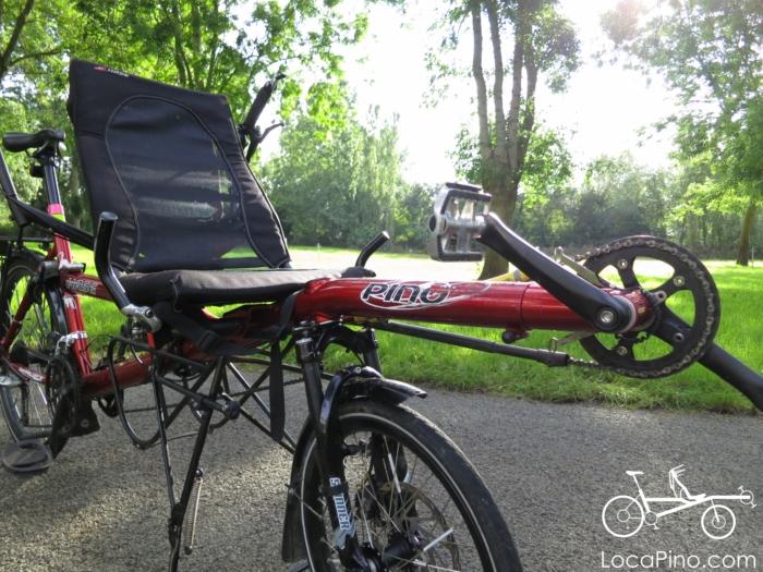 Détails de l'avant d'un tandem Pino par Hase Bikes
