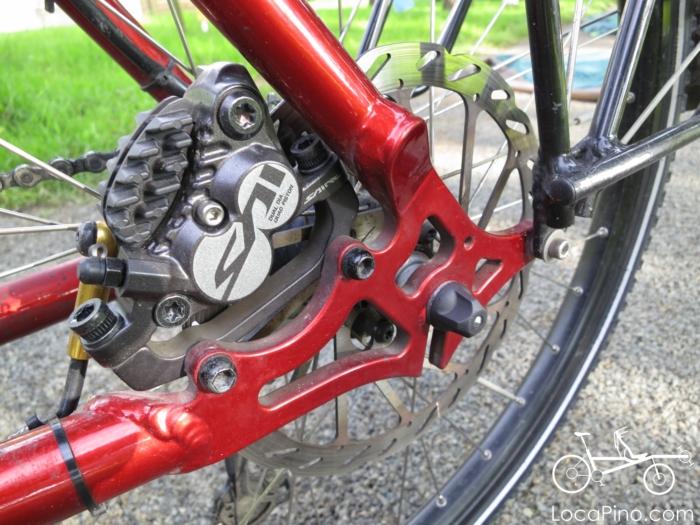 Shimano Saint downhill brakes on a Pino tandem bike
