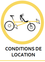 Conditions de location d'un tandem Pino